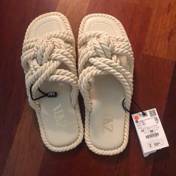 Zara Rope Sandals SZ 8